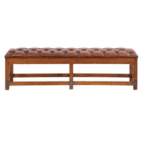 Hacienda Kitchen Rugs Hacienda Tufted Leather Bench