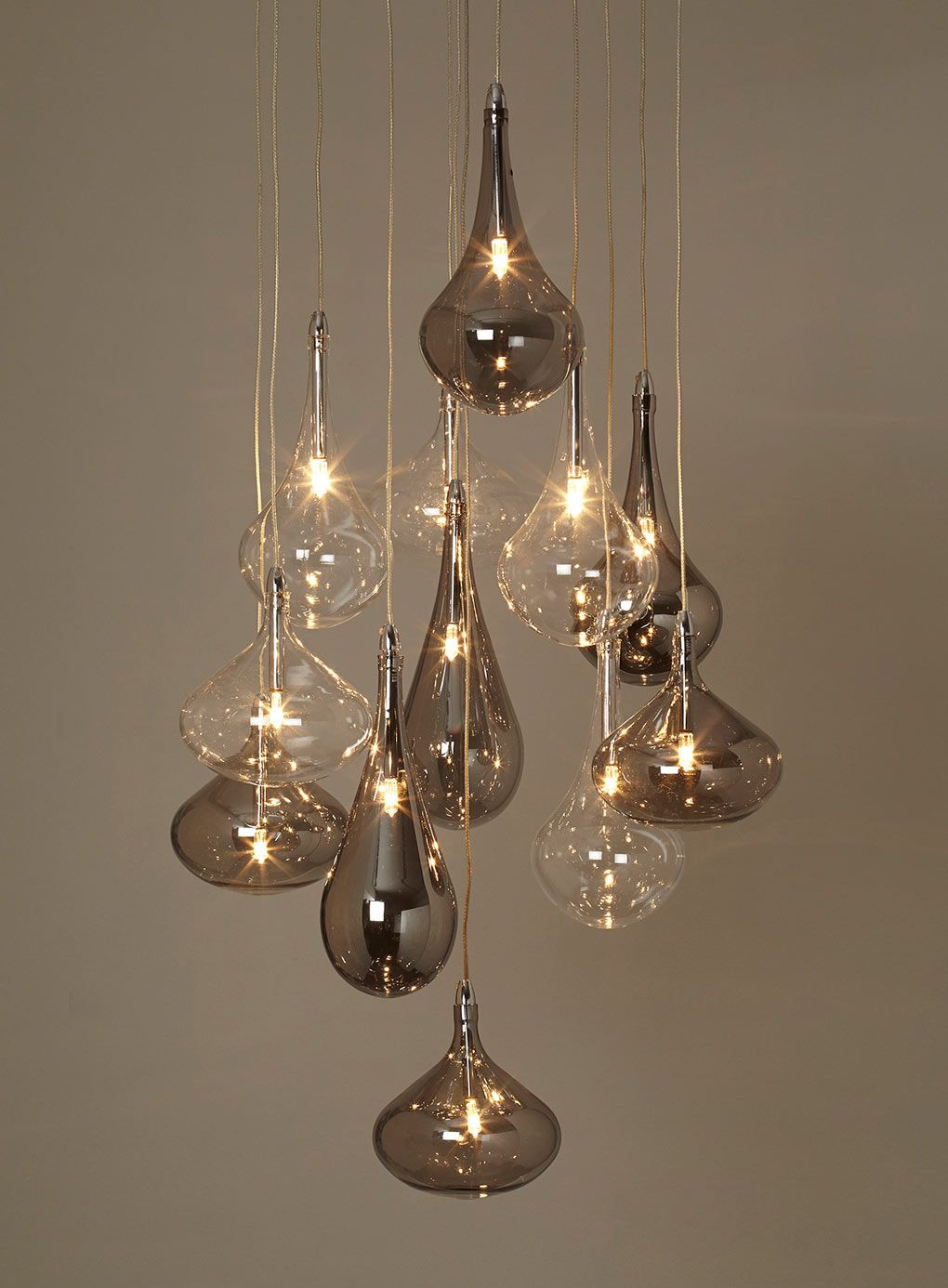 BHS // Illuminate Atelier // Carmella 10 Light Cluster // Glass ... for Roof Lamp Design  284dqh