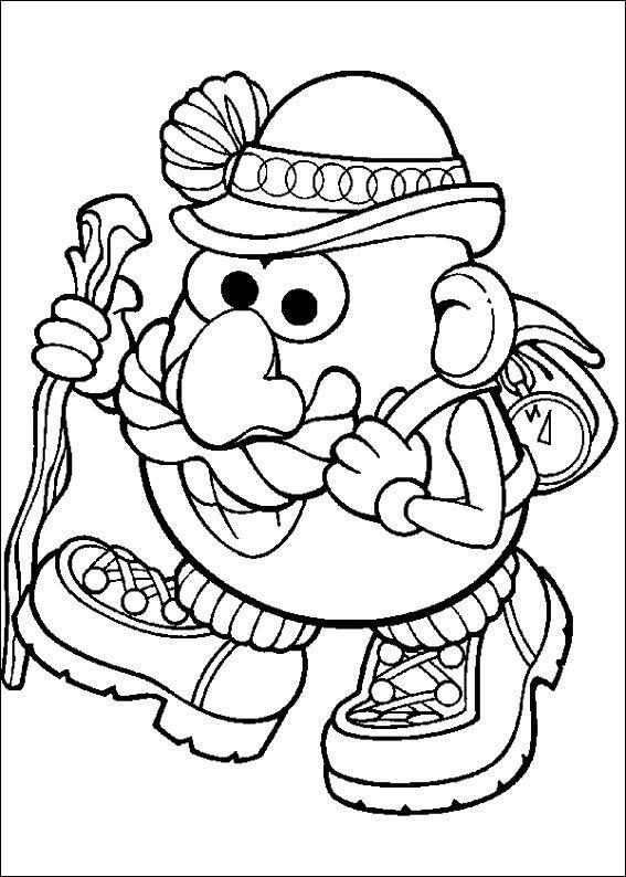 Kids N Fun Coloring Page Mr Potato Head Mr Potato Head Toy Story Coloring Pages Cartoon Coloring Pages Coloring Pages