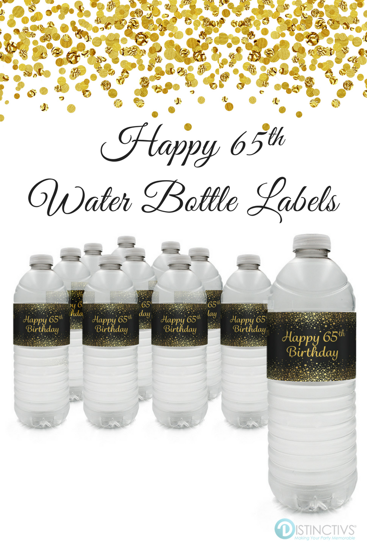 Hollywood Star Birthday Party Favors Water Bottle Labels Personalized Custom