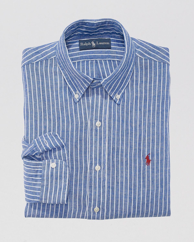 Polo Ralph Fit Striped Linen ShirtBloomingdale's Custom Lauren xtsQdhrC