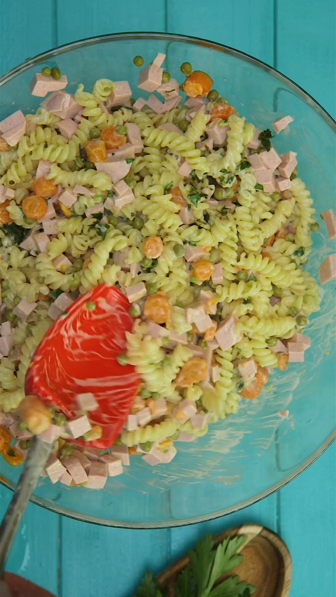 Nudelsalat – Junggesellen-Rezept
