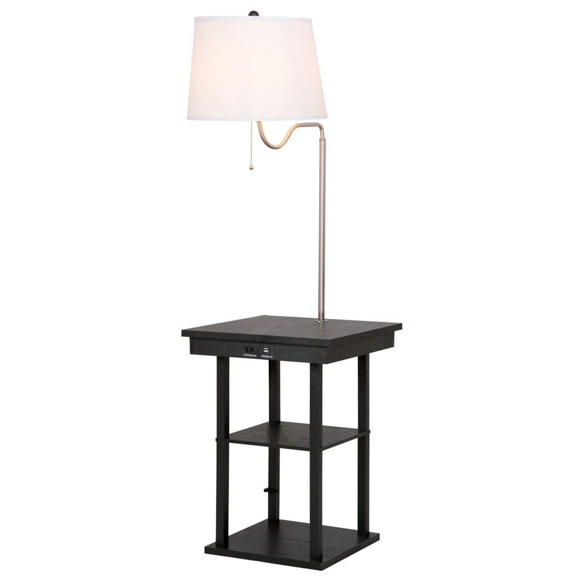 Table Swing Arm Floor Lamp With Shade 2 Usb Ports Swing Arm Floor Lamp Floor Lamp Lamp