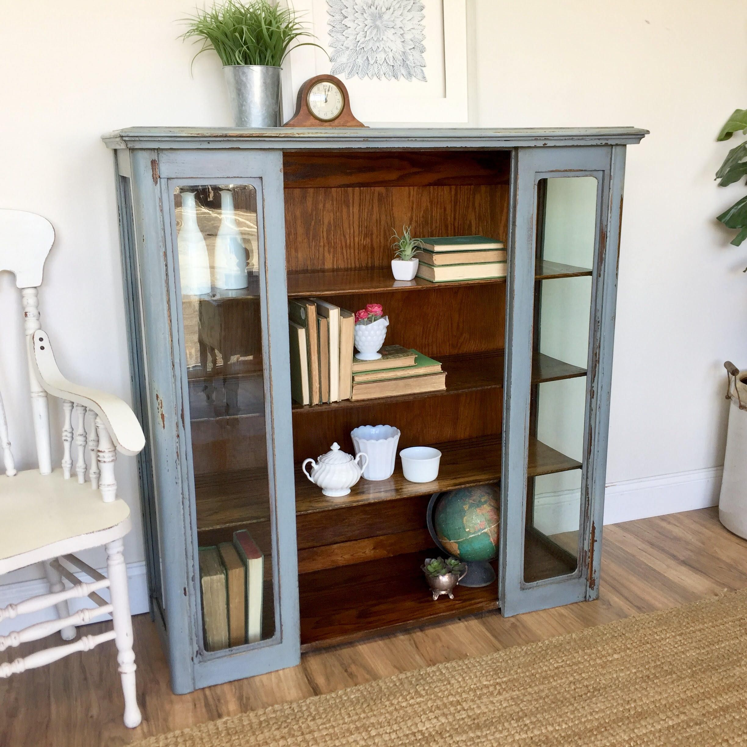 Painted Bookcase Farmhouse Furniture Distressed