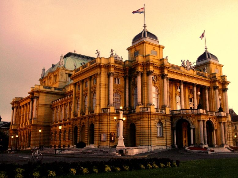 Croatian Opera House Zagreb Dream Destinations Croatia