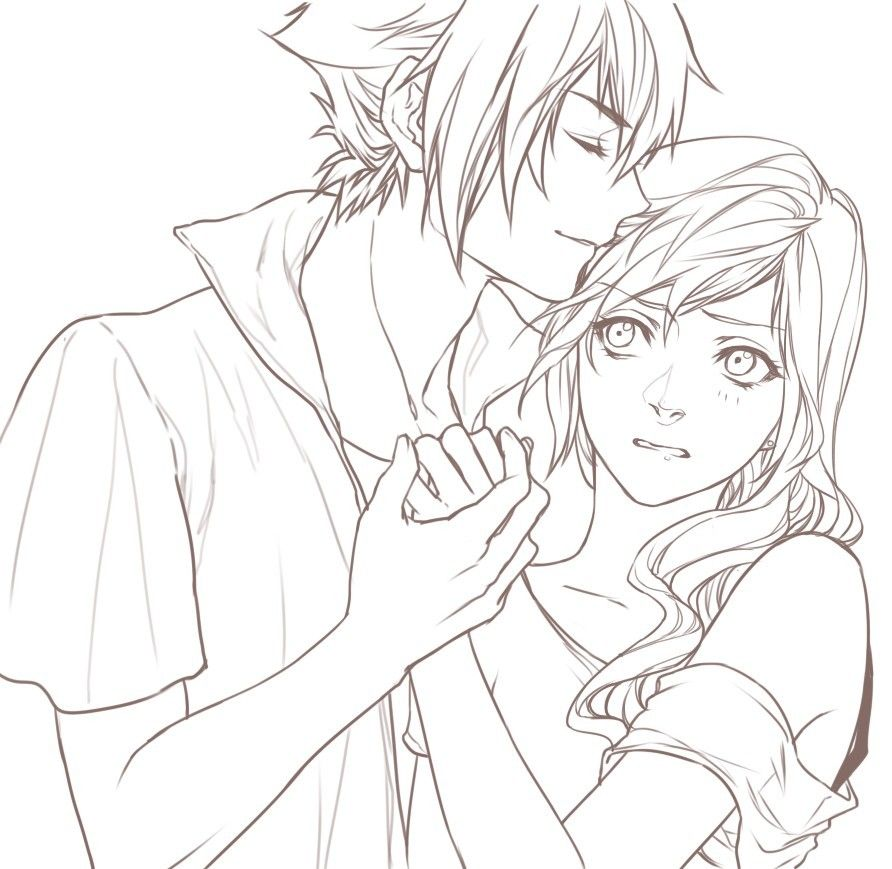 Noctis And Lightning By Relear Anime Manga Kiss