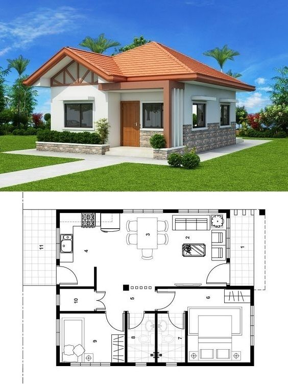 Pin De Graciela Barale En Home Casas Pequenas Bonitas Casas De 1 Piso Planos De Casas Sencillas