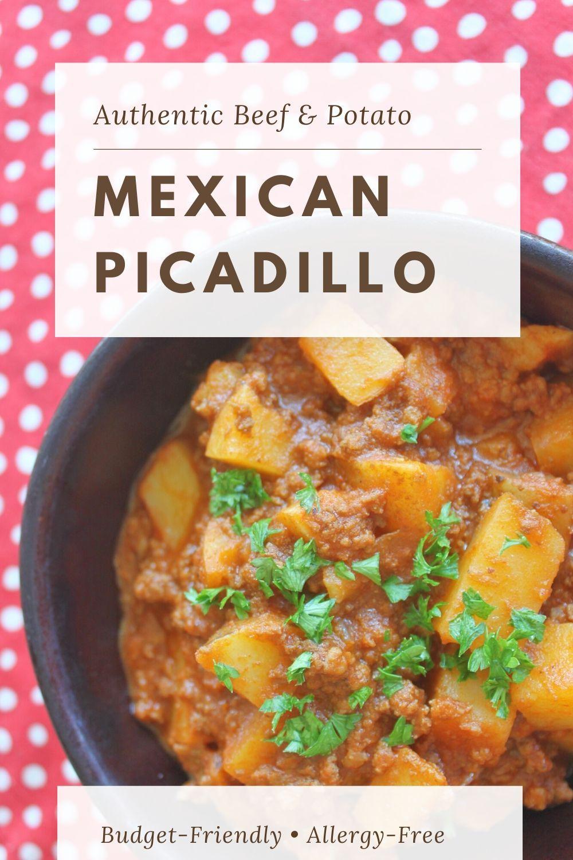 Picadillo Mexican Beef Potato Stew Cheapskate Cook Recipe In 2020 Mexican Picadillo Recipe Ground Beef Picadillo Beef And Potato Stew
