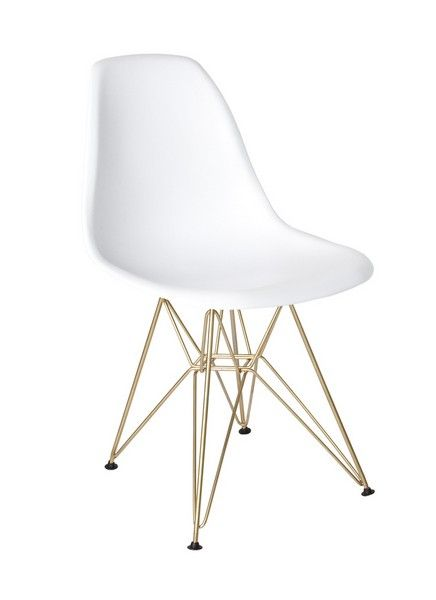 Cairo Dining Chair White With Gold Base Gold Dining Chairs