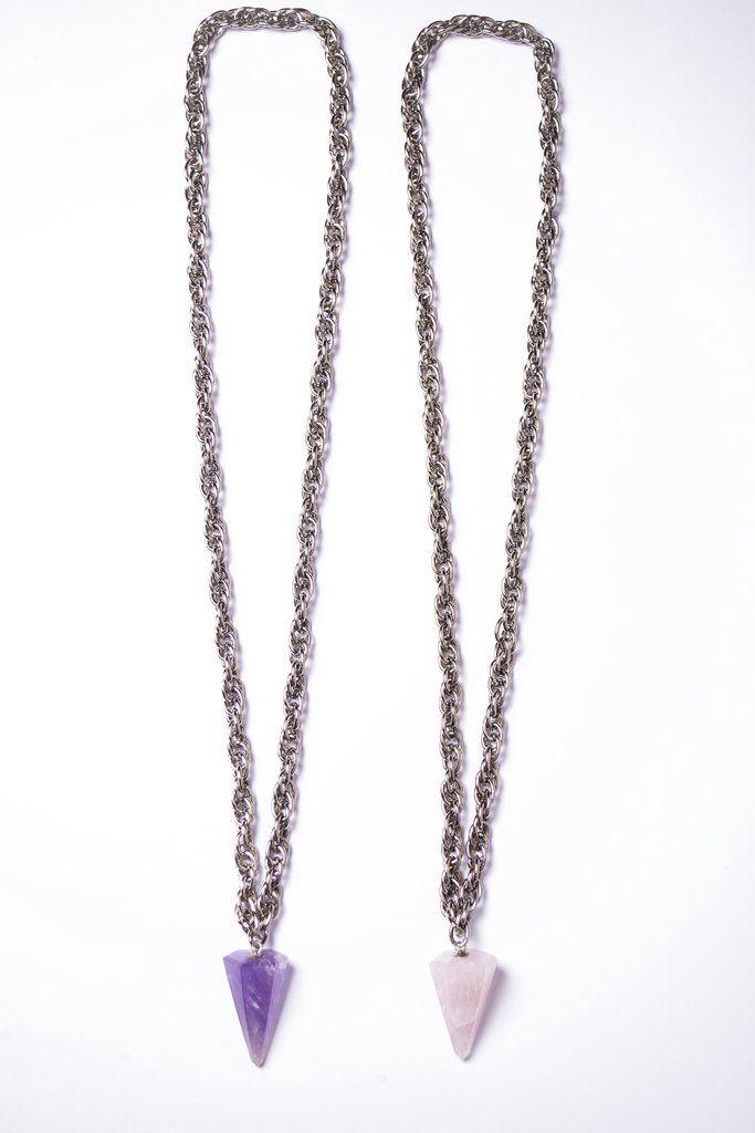 Collar Mercurio con Cuarzo transparente/ Onix - comprar online