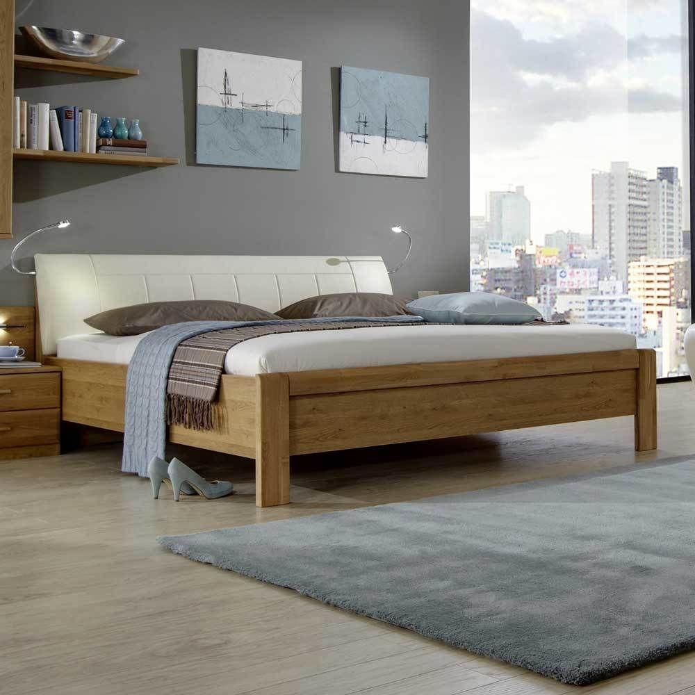 massivholzbett mit polsterkopfteil 180x200 jetzt bestellen unter. Black Bedroom Furniture Sets. Home Design Ideas