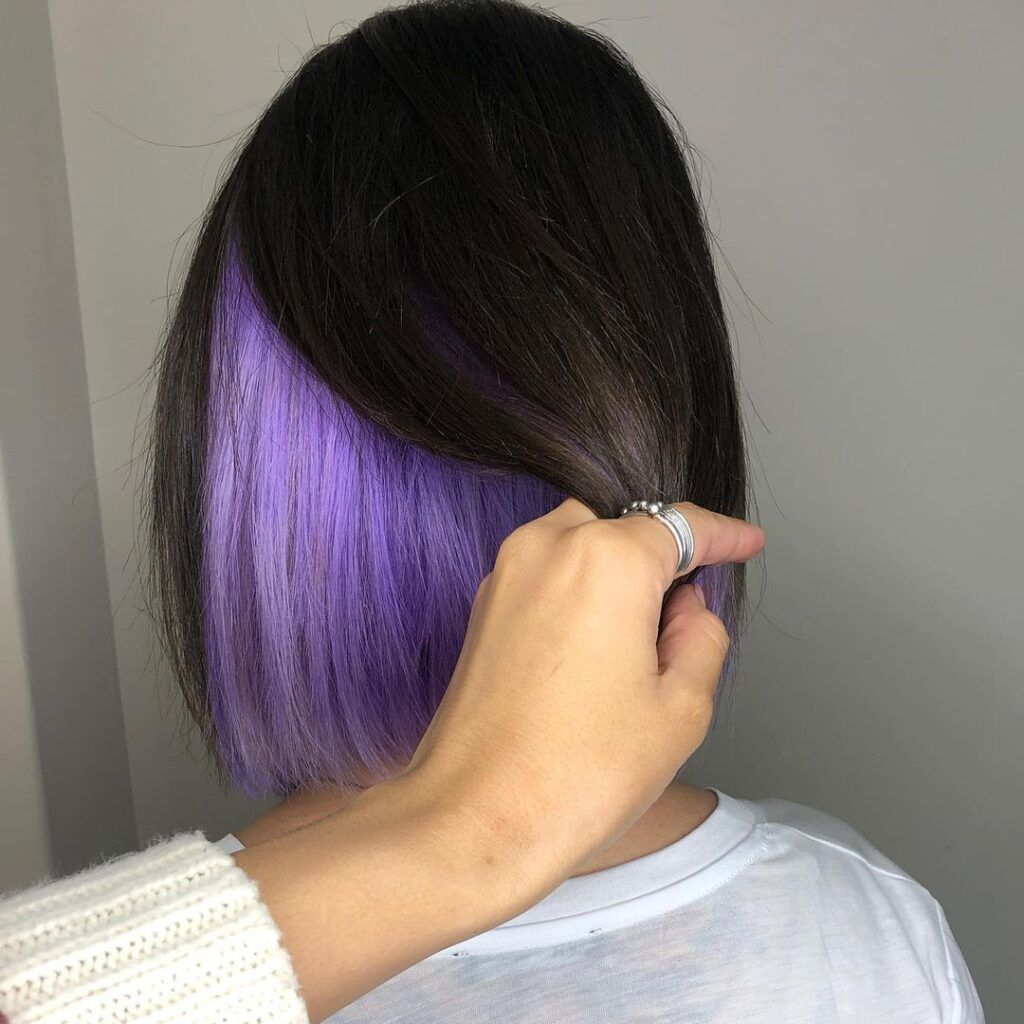 Underneath Dyed Hair Color Ideas For Brunettes - x