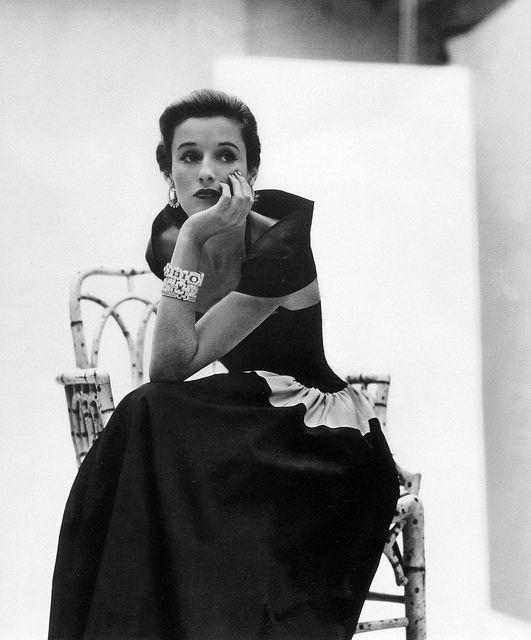 "Barbara ""Babe"" Cushing Mortimer Paley , photo by John Rawlings, Vogue, February 1, 1946."