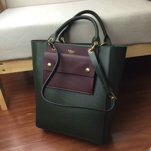 33fe9898fd34 2016 A W Mulberry Maple Tote Bag Racing Green Printed Goat Leather ...
