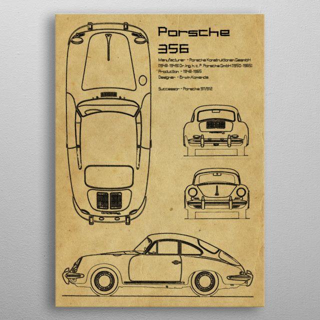 Porsche 356 by FARKI15 DESIGN   metal posters - Displate   Displate thumbnail