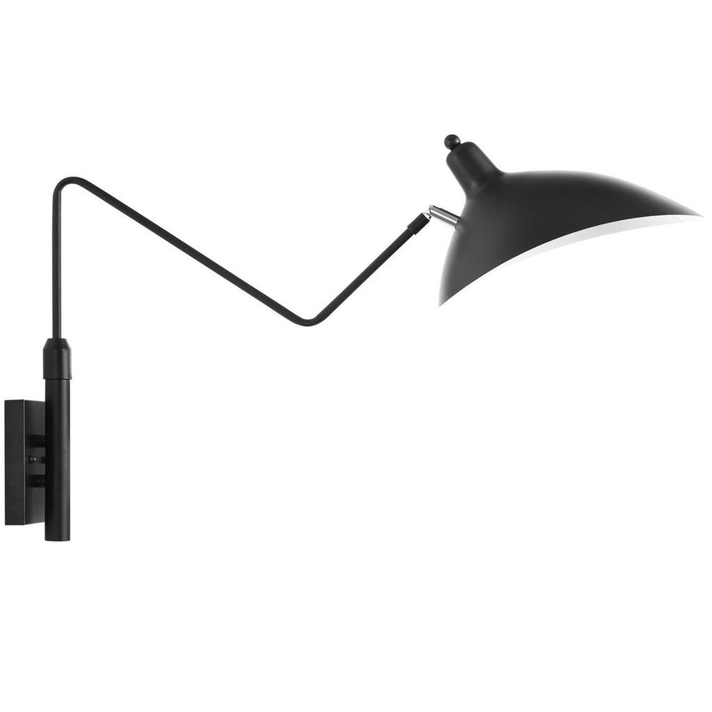 Mantis One Arm Wall Sconce Lamp Serge Mouille Style Black Modern Wall Lamp Black Wall Lamps Contemporary Wall Lamp