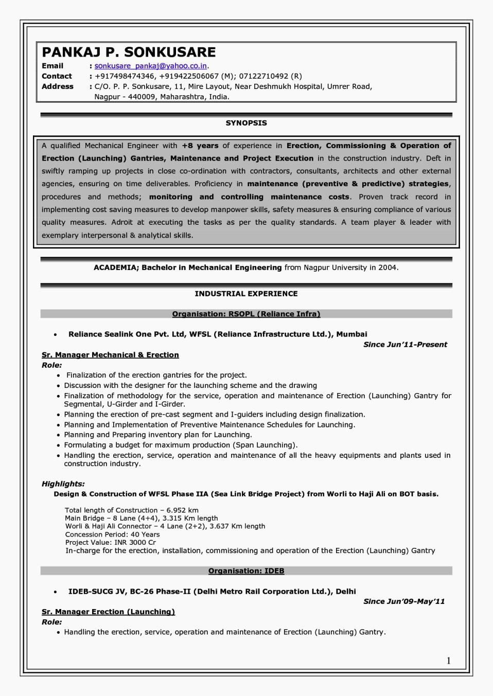 Experienced Mechanical Engineer Resume Awesome Experience Mechanical Engineer Resume Mechanical Engineer Resume Engineering Resume Templates Engineering Resume