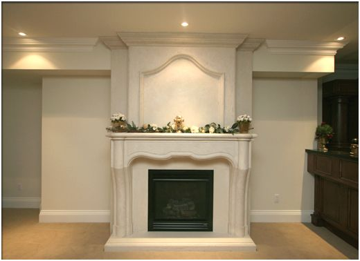 Exquisite is a word that immediately springs to mind when one first lays eyes on this cast stone mantel. Exquisite lines and styling (again that word) produce a mantel surround with down-to-earth sophistication. The Chateau is mantel one would expect to find adorning a French castle or country house.