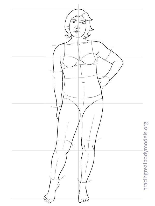 realmodels-templates-0014 DRAWING THE BODY ( РИСОВАНИЕ ФИГУРЫ - blank fashion design templates