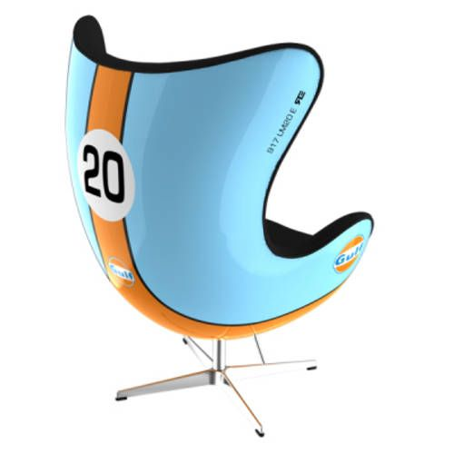 Porsche Inspired Art Chair For Sale