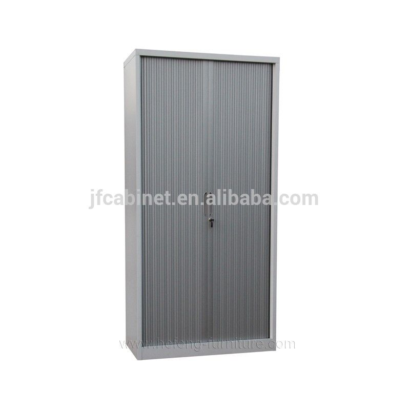 H1850 W900 D450mm Knock Down Tambour Door Steel File Cabinet Tall Cabinet Storage Steel File Filing Cabinet
