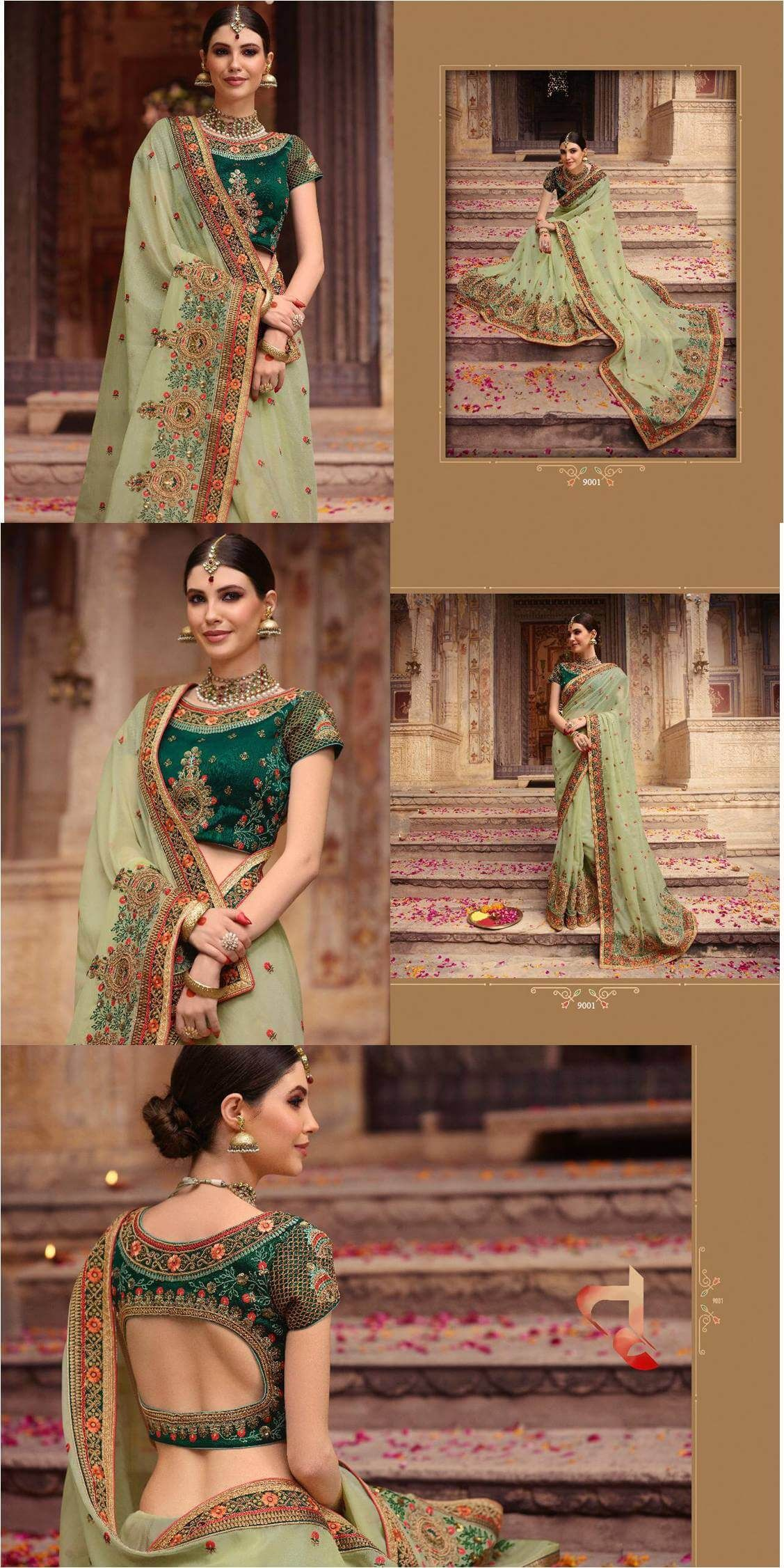 0173b90cf Shop Bridal Sarees code Palash vol 9 Online with the best price. Flaunt  latest styled cuts and look with these Indian Dresses