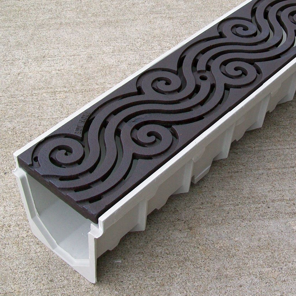 Mearin 100 Driveway Drainage Kit W Argo Cast Iron Grate Baked On Oil Finish Drainage Solutions Yard Drainage Drainage