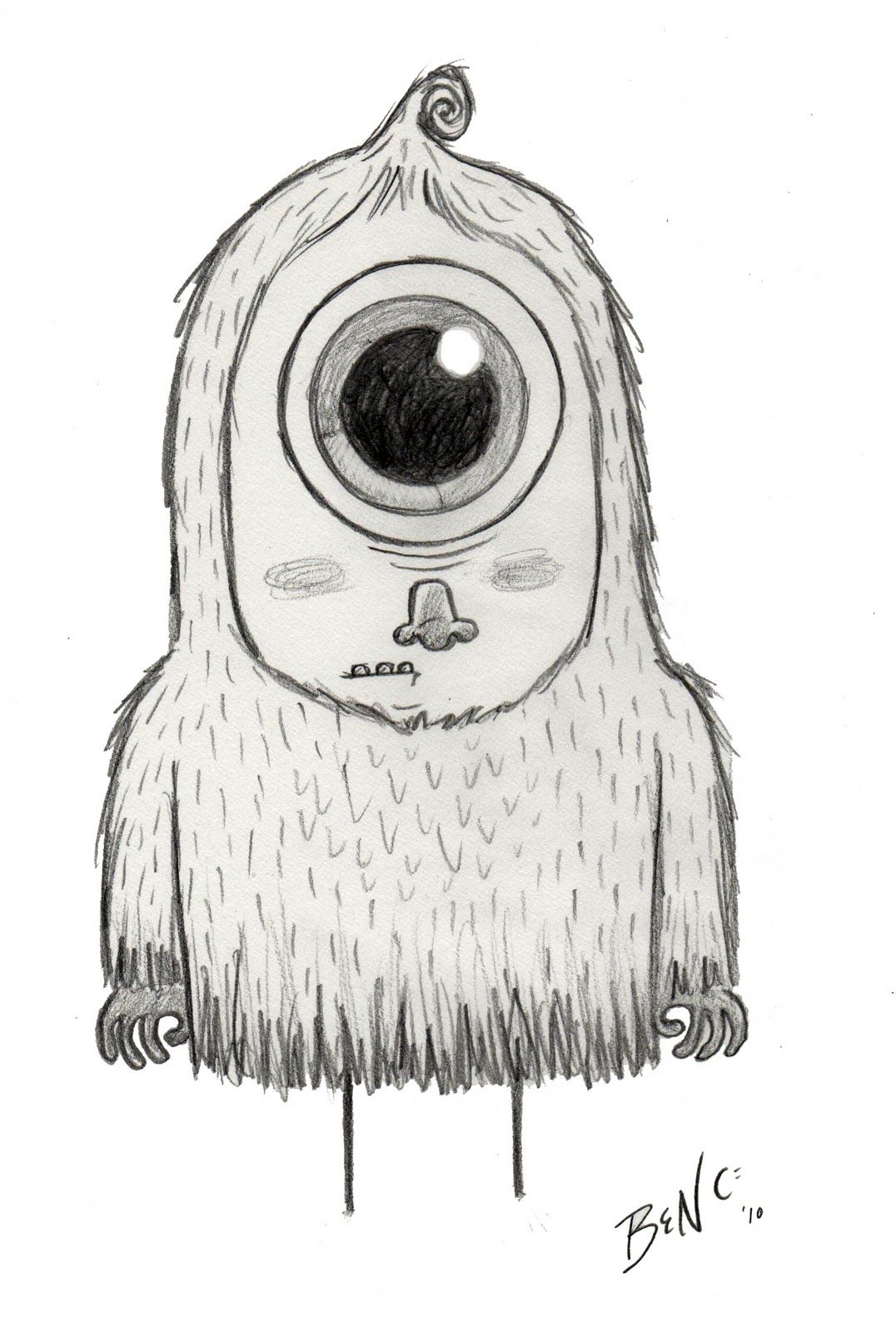 I love sketching monsters! I had a couple of great monster story ideas recently…