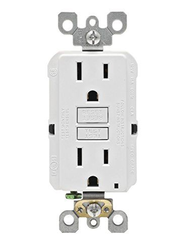 Leviton Gfnt1w Selftest Smartlockpro Slim Gfci Nontamperresistant Receptacle With Led Indicator 15amp White Want To Know More Click Leviton Gfci Receptacles