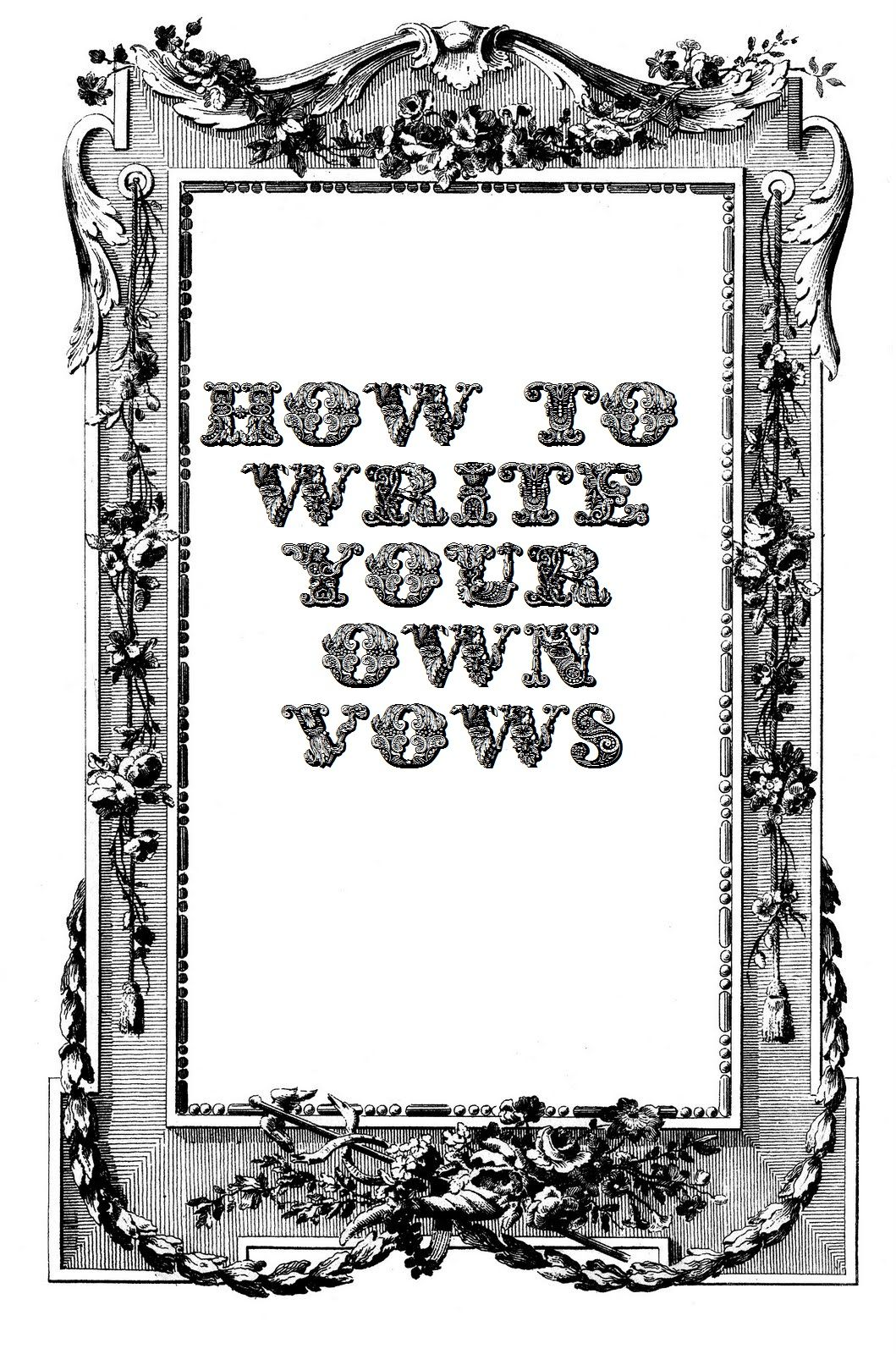 A Stylish Affair by Jessie: How to Write Your Wedding Vows For baby ...