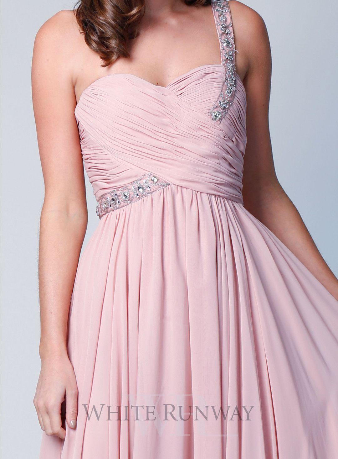 Lucia embellished one shoulder stunning one shoulder long