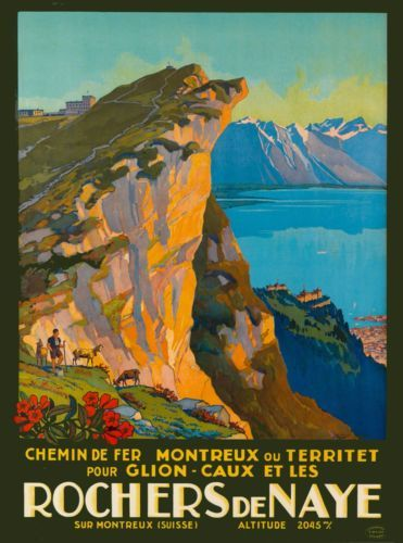 Rochers-de-Nay-Mountains-Switzerland-Suisse-Vintage-Travel-Advertisement-Poster