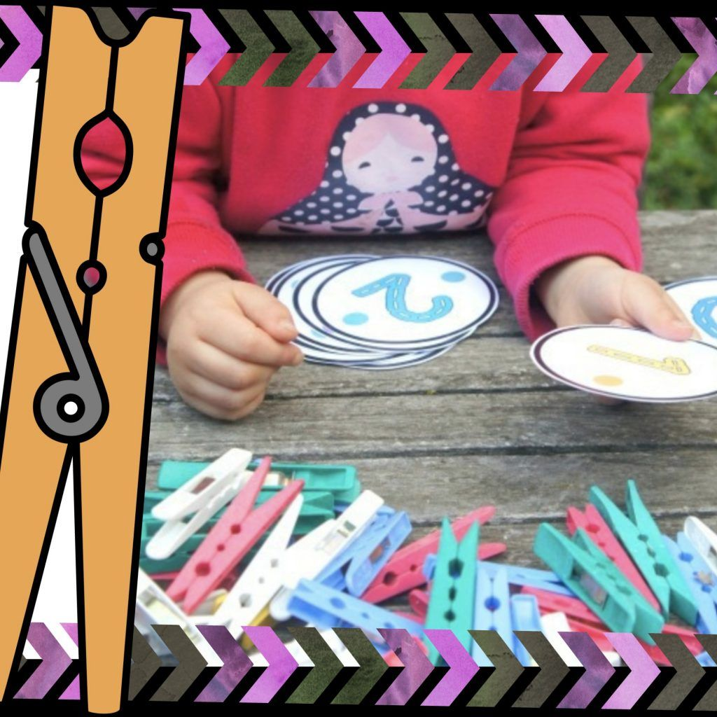 Free Peg Dot Counting And Number Cards In With