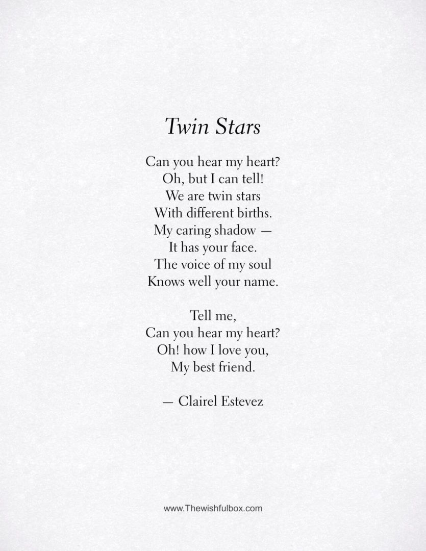 poem love and friendship