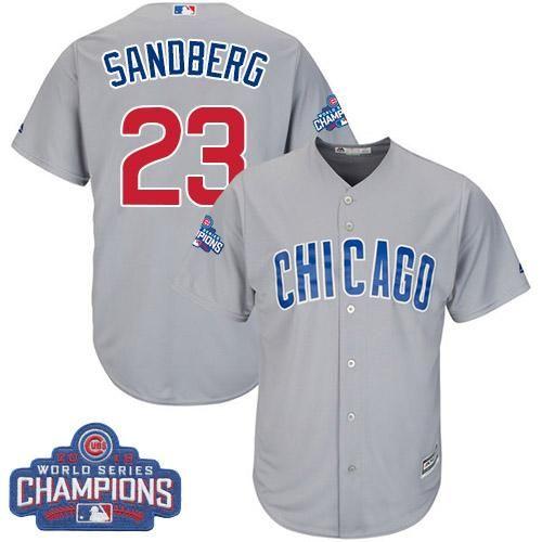 Chicago Cubs #23 Ryne Sandberg 2014 Gray Jersey