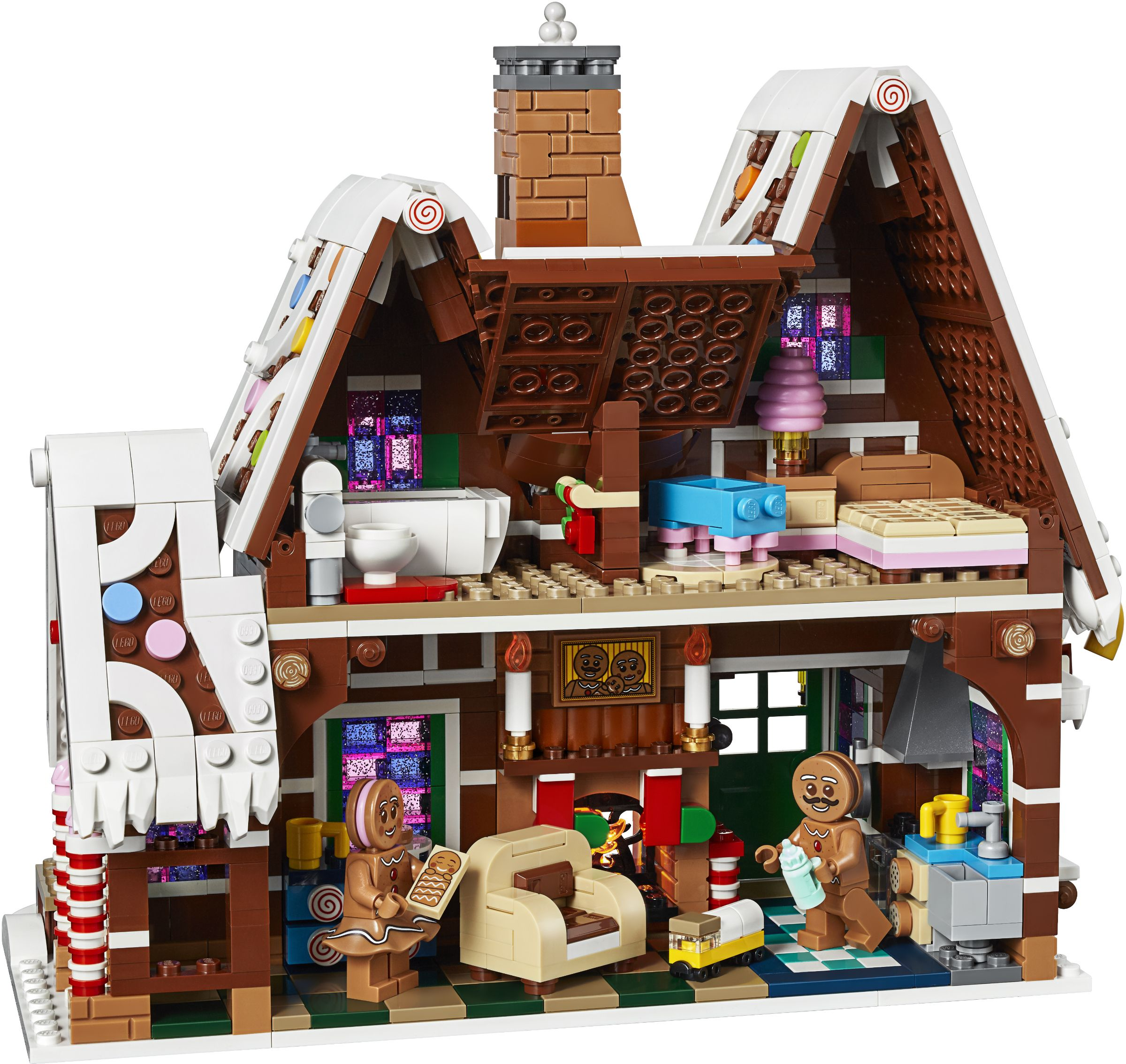 This Delicious Gingerbread House Is This Year S Winter Village Set In 2020 Lego Gingerbread House Lego Creator Lego Creator Sets