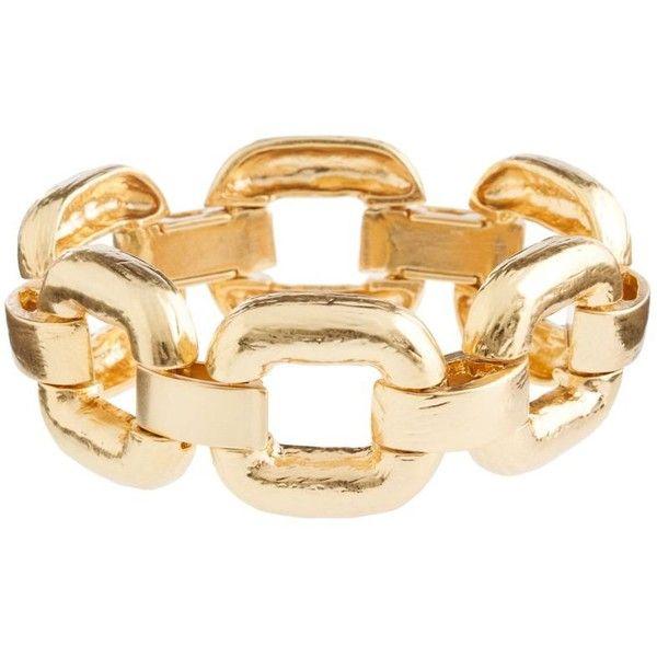 Square links bracelet ($65) ❤ liked on Polyvore