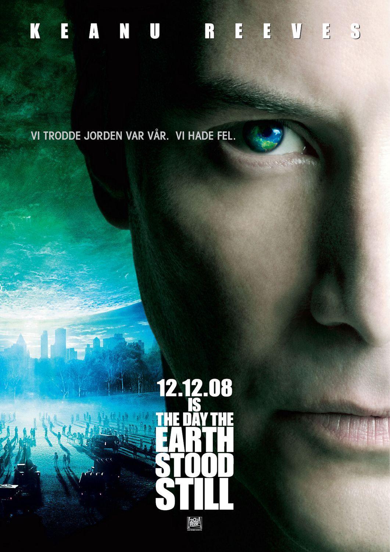 Keanu Reeves Day The Earth Stood Still 2008 Cartaz De Filme Filmes Cristaos Filmes Ficcao