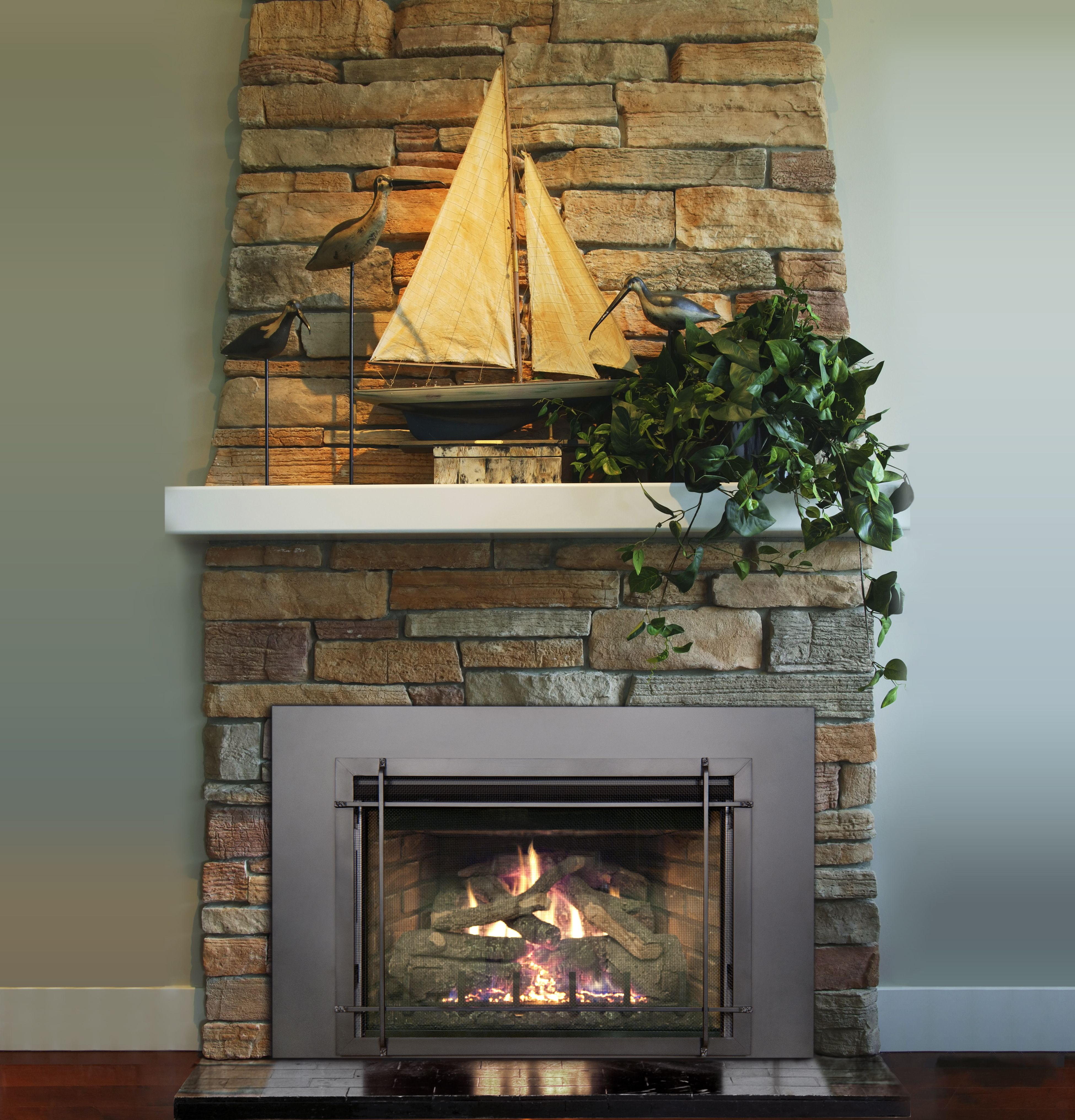 like the style of fireplace insert Real Fyre Direct Vent Gas Insert ...