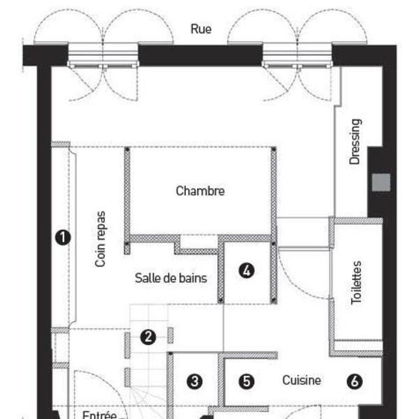 petit appartement deux chambres dans 27m2 appartements deux chambres deux chambres et le plan. Black Bedroom Furniture Sets. Home Design Ideas