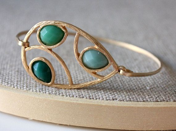 Green bangle  custom size  limited offer