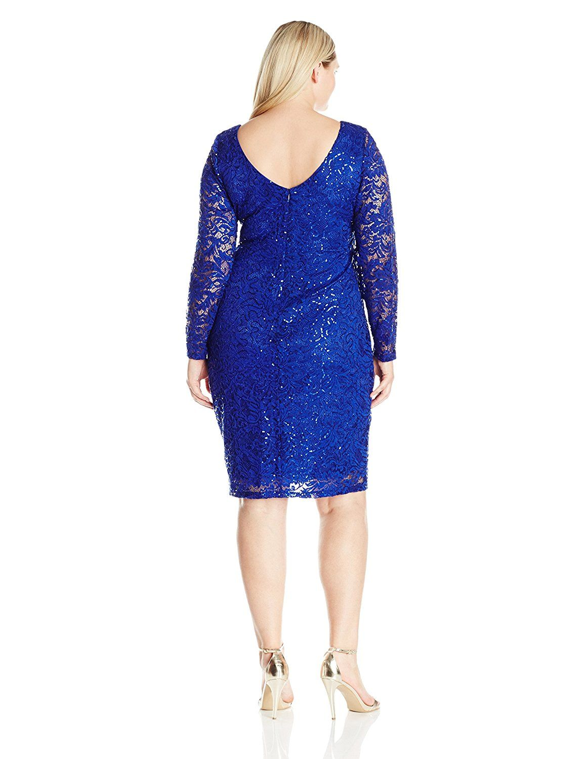6d9af6fde41 Marina Women s Plus Size Long Sleeve Lace V Neck Dress    Learn more by  visiting the image link. (This is an affiliate link)  Plussizedresses