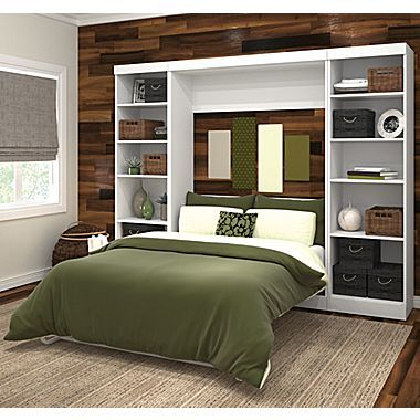 Pur By Bestar 109 Full Wall Bed Kit White Staples Modern Murphy Beds Wall Bed Murphy Bed
