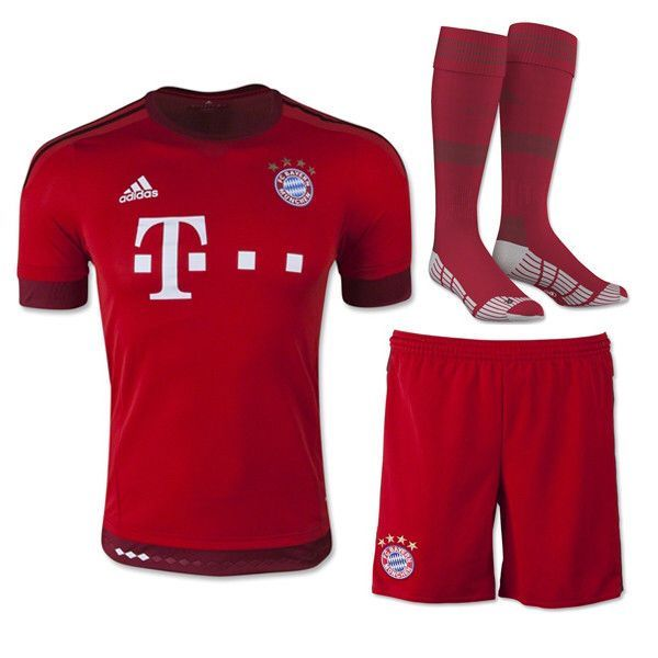 e1752dcb5cf Bayern Munchen 15-16 HOME FULL KIT Personalized Name and Number ...