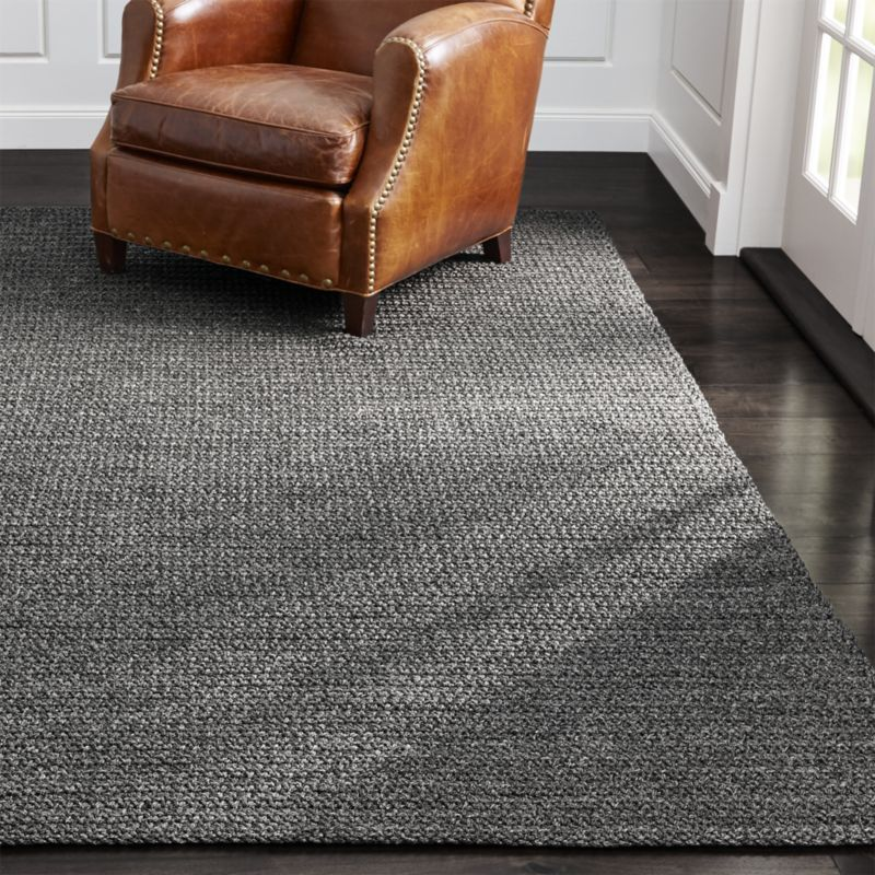 Salome Charcoal Grey Indoor Outdoor Rug Constructed By Skilled S In India The Has A Handcrafted Chunky Look That Brings Relaxed