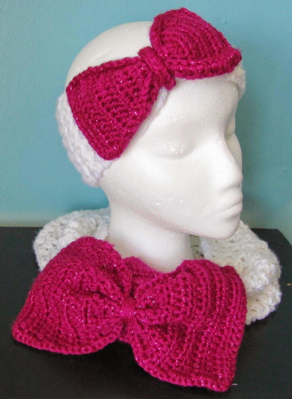 Lorraine\'s handmade: crochet set de bufanda y diadema para niña ...