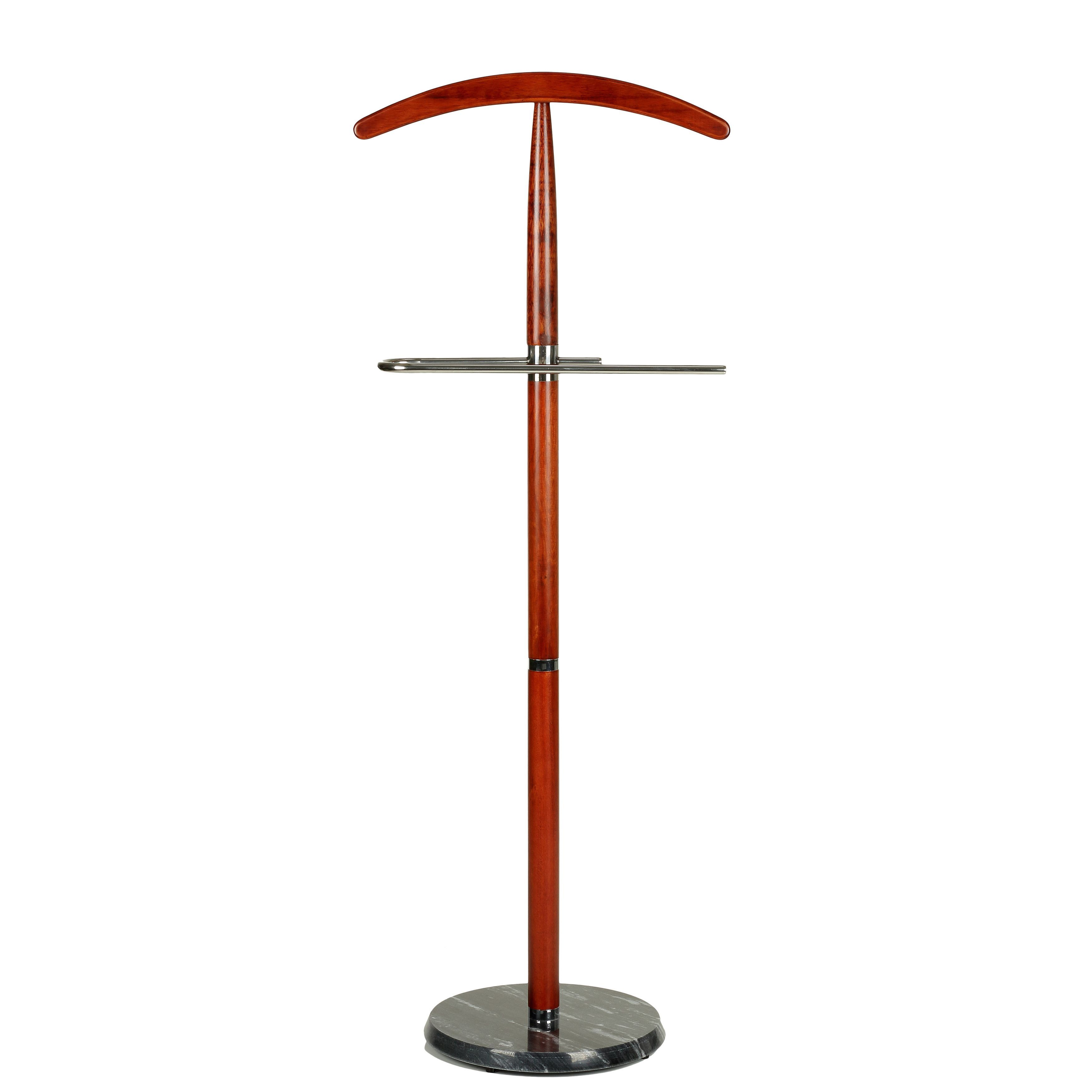 Cortesi Home CH-SR421106 Cambridge Suit Valet Stand in Cherry Wood with Base