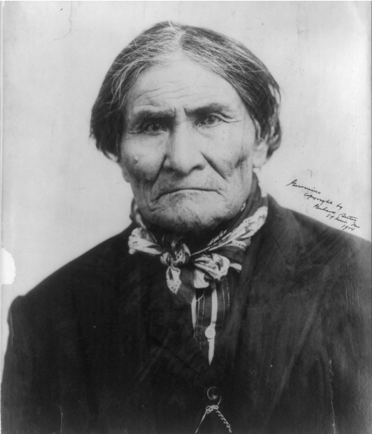 LEGEND: Geronimo, photographed during the Louisiana Purchase Exposition in St. Louis, 1904