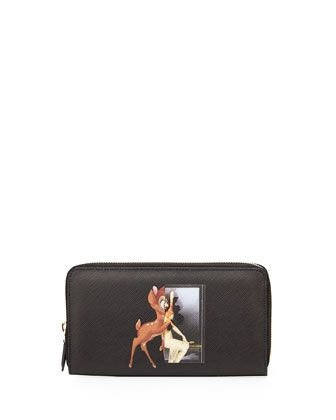 3c1766b250 Printed Zip-Around Continental Wallet, Multi by Givenchy at Neiman Marcus.