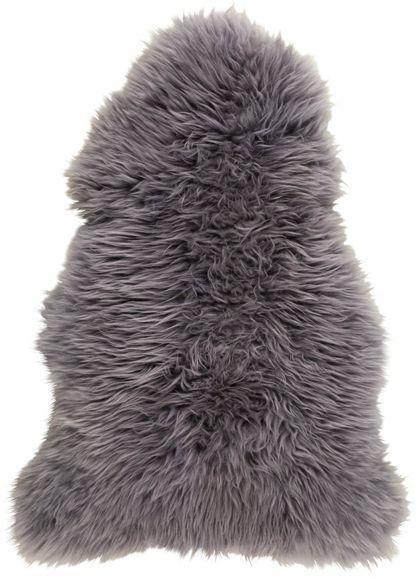Flauschiges Schaffell in Grau  - für ein kuscheliges Ambiente zu Hause